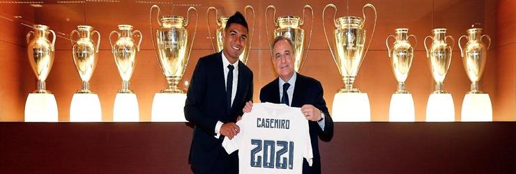 Casemiro amplia su contrato con el Real Madrid hasta 2021