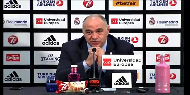 """RUEDA DE PRENSA   Pablo Laso: """"Estoy contento por el trabajo del equipo y por como hemos entendido el partido"""""""