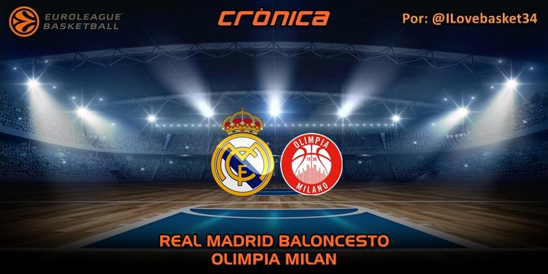 CRÓNICA | Real Madrid 92 – 89 Olimpia Milan | Euroleague | Jornada 27