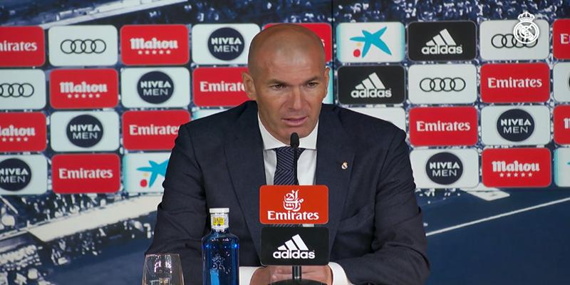 """RUEDA DE PRENSA   Zinedine Zidane: """"Al final conseguimos un buen resultado y es muy importante para nosotros"""""""