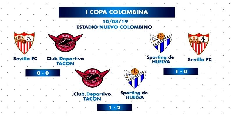 CRÓNICA   Buenas sensaciones en la Copa Colombina: Sevilla 0 – 0 CD Tacon   CD Tacon 1 – 2 Sporting Club de Huelva