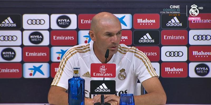 VÍDEO   Rueda de prensa de Zinedine Zidane previa al partido ante el Zaragoza