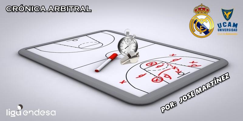 CRÓNICA ARBITRAL | Real Madrid vs UCAM Murcia | Liga Endesa | Jornada 2