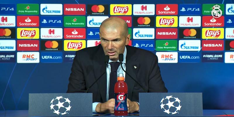 VÍDEO | Rueda de prensa de Zinedine Zidane tras el partido ante el Club Brujas