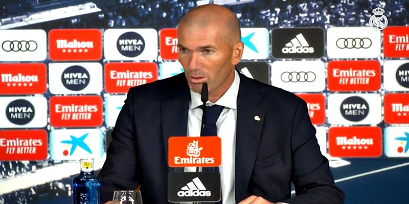 VÍDEO   Rueda de prensa de Zinedine Zidane tras el partido ante el Sevilla