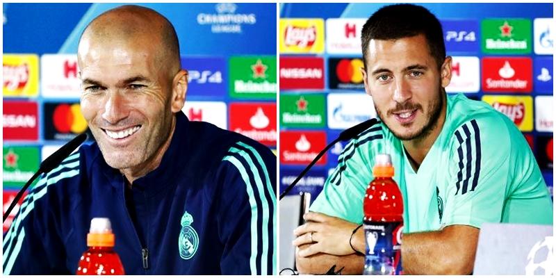 VÍDEO | Rueda de prensa de Zinedine Zidane y Eden Hazard previa al partido ante el Club Brujas