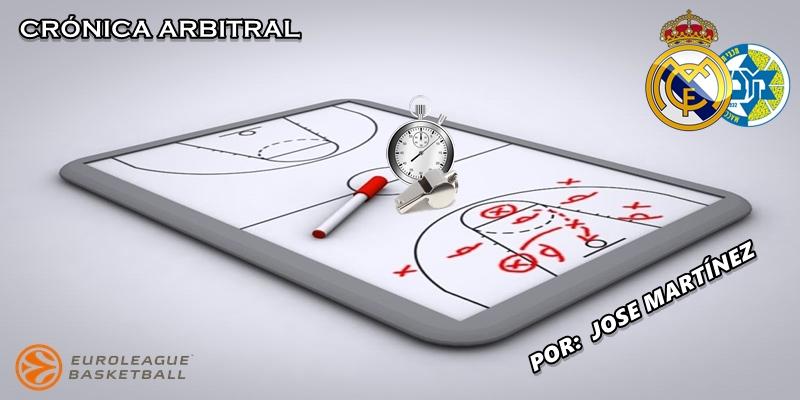 CRÓNICA ARBITRAL | Real Madrid vs Maccabi Tel Aviv | Euroleague | Jornada 2