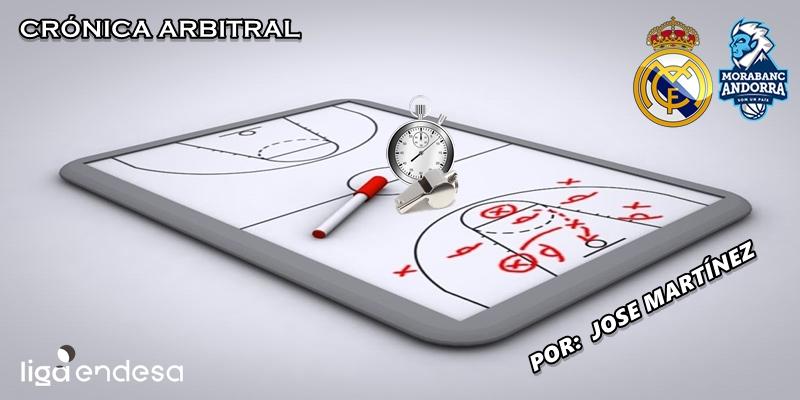 CRÓNICA ARBITRAL | Real Madrid vs Morabanc Andorra | Liga Endesa | Jornada 14