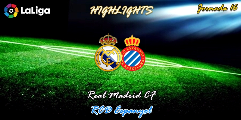 VÍDEO | Highlights | Real Madrid vs RCD Espanyol | LaLiga | Jornada 16