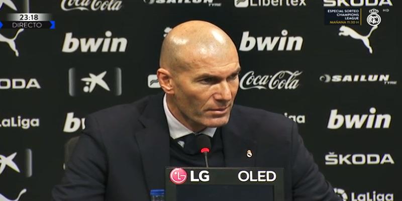 VÍDEO | Rueda de prensa de Zinedine Zidane tras el partido ante el Valencia