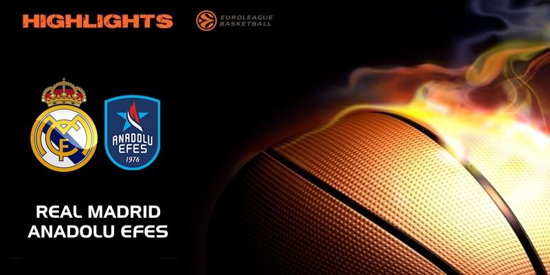 VÍDEO   Highlights   Real Madrid vs Anadolu Efes   Eurolegue   Jornada 21