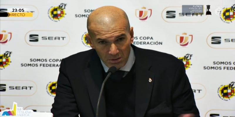 VÍDEO   Rueda de prensa de Zinedine Zidane tras el partido ante el Unionistas de Salamanca