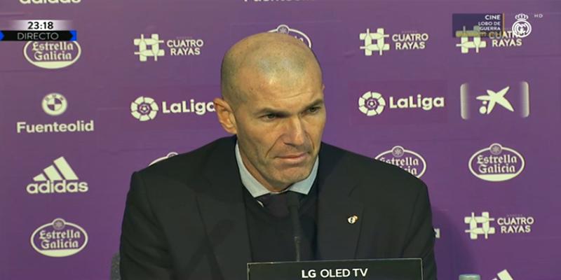 VÍDEO   Rueda de prensa de Zinedine Zidane tras el partido ante el Valladolid